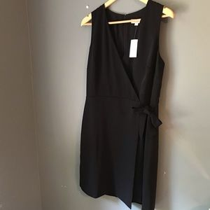 NWT Ann Taylor black wrap dress